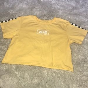 b5f4995739b2e 🍍Vans checkerboard yellow crop top🍍✨✨✨✨✨✨✨